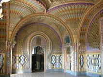 Castle Sammezzano, living room interior Royalty Free Stock Photos