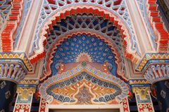 Castle Sammezzano, Moorish architecture Stock Photos