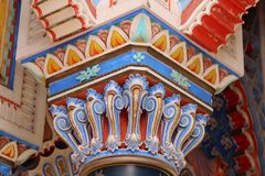 Castle Sammezzano, particular capitals Royalty Free Stock Photos