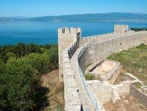 Castle Samuil And Lake Ohrid, Macedonia Royalty Free Stock Photos