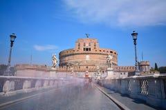 Castle of San Angelo in Rome. Stock Photos