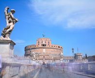 Castle of San Angelo in Rome. Stock Images