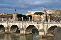 Castle San Angelo in Rome, Italy Royalty Free Stock Images