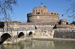 Castle San Angelo in Rome, Italy Stock Photos