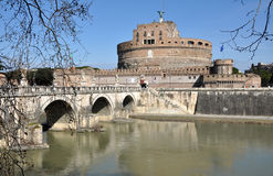 Castle San Angelo in Rome, Italy Royalty Free Stock Photo