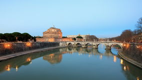 Castle of San Angelo, Rome, Italy. Time Lapse. 4K stock footage