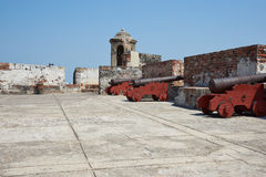 Castle of San Felipe De Barajas Royalty Free Stock Photos