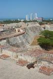 Castle of San Felipe De Barajas Stock Photos