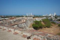 Castle of San Felipe De Barajas Royalty Free Stock Photos