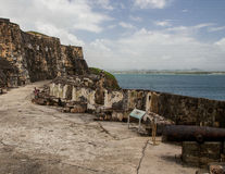 Castle San Felipe del Morro Cannon Emplacement Stock Photography