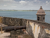 Castle San Felipe del Morro Cannon Emplacement Stock Photo