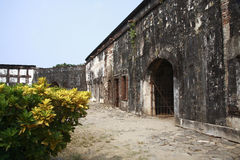 Castle San Fernando de Omoa. Constructed by the Spanish was finalized in 1775 Stock Image