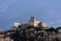 Castle of San Giorio Stock Photography