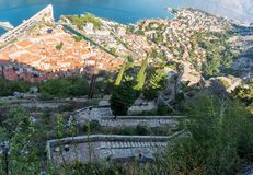 Castle Of San Giovanni, St John fortress, Kotor, Montenegro. Castle Of San Giovanni, St John fortress and old town of Kotor, Montenegro stock images