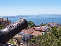 The Castle of San Jorge in Lisbon Portugal Stock Photos