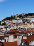 The Castle of San Jorge in Lisbon Portugal Stock Image