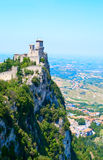 The castle in San Marino Stock Photography