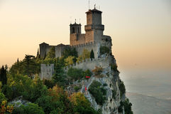Castle in San Marino. One of the castles of San Marino. This picture was taken late in the afternoon Royalty Free Stock Photo