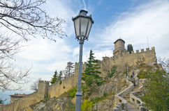 Castle of San Marino Royalty Free Stock Images