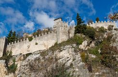 Castle in San Marino Royalty Free Stock Images
