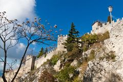 Castle in San Marino Royalty Free Stock Photography