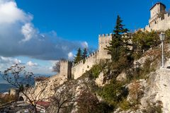 Castle in San Marino Royalty Free Stock Photos