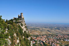 Castle in San Marino Stock Images