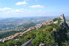 Castle of San Marino Royalty Free Stock Photography