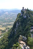 The castle of San Marino Royalty Free Stock Photos