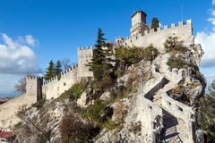 Castle in San Marino Stock Image