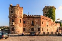 Castle San Nicola l'Arena. Shot of a medieval castle at San Nicola l'Arena Stock Photos