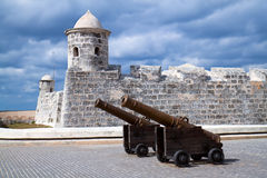 Castle San Salvador de la Punta Stock Photo
