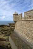 Castle San Sebastián in Cadiz,Spain Stock Photography