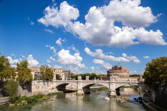 Castle San't Angelo. Sant't Angelo castle photographed across the bridge Vittorio royalty free stock images