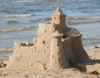 Castle on sand Stock Photo