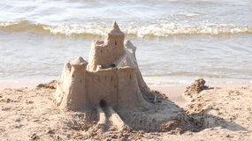 Castle on sand Stock Photos