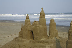 Castle of Sand Royalty Free Stock Image