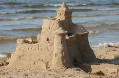 Castle on sand Royalty Free Stock Images