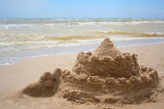 Castle from the sand Stock Photography