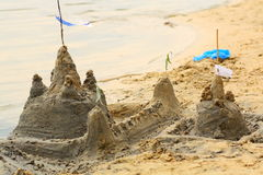 The castle from sand Stock Images