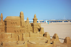 Castle in the sand Royalty Free Stock Images
