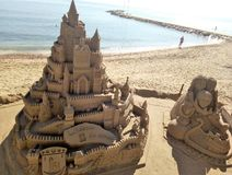 Castle from sand. Marbella, Spain royalty free stock photography