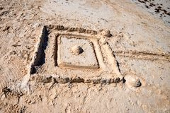 Castle on the sand. Close up image of castle on the sand royalty free stock photography