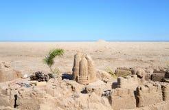 The castle on the sand. The castle on the sand in the Karelian Isthmus, Russia royalty free stock image
