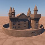 Castle of sand Royalty Free Stock Photos