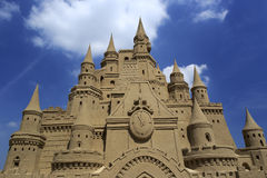 Castle sand sculpture Stock Photos