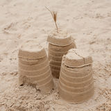 Castle on sand Royalty Free Stock Photos