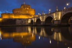 Castle Sant Angelo και Ponte Sant Angelo Στοκ φωτογραφία με δικαίωμα ελεύθερης χρήσης