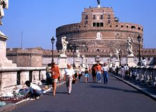 Castle Sant Angelo, Ρώμη Στοκ εικόνα με δικαίωμα ελεύθερης χρήσης