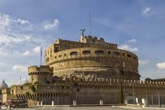 Castle Sant Angelo στη Ρώμη, επίσης γνωστή ως μαυσωλείο του Αδριανού Στοκ φωτογραφία με δικαίωμα ελεύθερης χρήσης